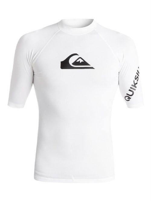 QUIKSILVER MENS RASH VEST.NEW ALL TIME WHITE UPF50+ GUARD T SHIRT TOP 8S 33 WBBO
